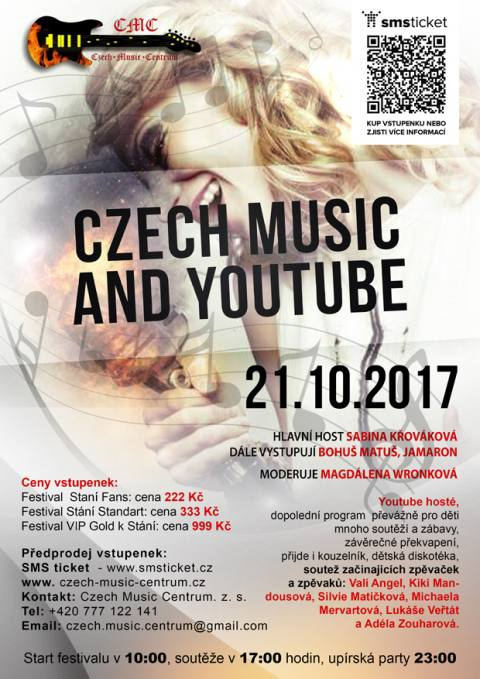 Czech Music and YouTube Day The Young VIP 2017 - zrušeno